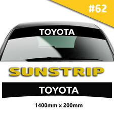 Toyota Sunstrip Car Stickers Decal Graphics Windscreen Stripes