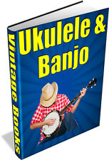 UKULELE & BANJO 29 Rare Vintage Books on DVD String Instuments
