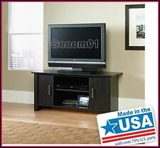 "TV Stand Flat Screen 42"" Black Entertainment Media Center Storage Mount Wood"