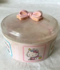 Vintage 1976 Sanrio HELLO KITTY Powder & Puff Set /Collectible /Japan