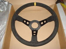 escort cosworth evo impreza etc rally car 350mm suade steering wheel,90mm dish.
