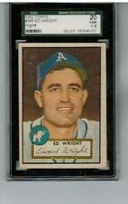 1952 TOPPS ED WRIGHT SGC 20 HIGH NUMBER #368 A'S