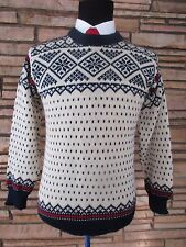 Dale of Norway Men's Pullover Ski Sweater Sz S Ivory Navy Blue Red