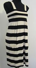 NEW! Portman's Size XS Black and Cream Striped Knit Dress