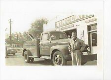 Old Photo Yaksic Sinclair Gas Station Ford Tow Truck 1951 IL Illinois