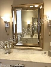 Large Art Deco Designer Wall Mirror Hollywood Glass Frame Venetian Vanity Mantle