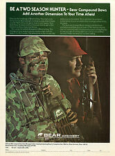 1978 Bear Archery Compound Bow Hunter Print Ad