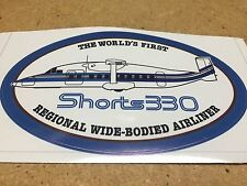 "Shorts 330 SD-3 SD-30 Airline Oval Pilot Decal Bag Sticker 3"" x 5"""