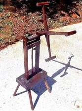 Vintage Primitive Wooden Yarn Skein Winder Folk Art Spinning Wheel