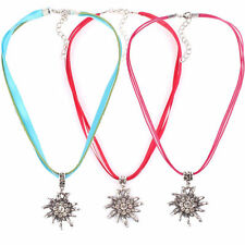 EDELWEISS FLOWER Pendant German Oktoberfest Dirndl Necklace Charm