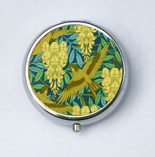 Art Nouveau Birds and Wisteria Floral Pill case pillbox pill holder design Patte