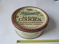 WHITMAN'S VINTAGE ALL-BUTTER COOKIES ADVERTISING TIN