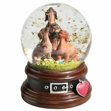Dachshund Trio Musical Water Globe Snow Globe Plays How Much Is That Doggie