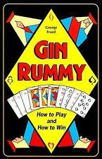 Gin Rummy: How to Play and How to Win by George Fraed 1997 Paperback 1st Edition