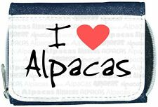 I Love Corazón Alpacas Denim Cartera