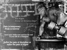 BODYBUILDING  JAY CUTLER INSPIRATIONAL / MOTIVATIONAL POSTER / PRINT / PICTURE