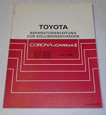 Werkstatthandbuch Toyota Corona + Carina II Karosserie / Kollision, St. 01/1988