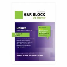 H&R Block At Home Deluxe Federal + State 2012 including e-file 4 PC & Mac