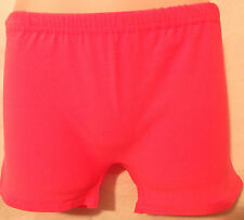 Girls kids  Neon Stretch Hot Pants Shorts Lycra School  Dance Gym Tutu Shorts