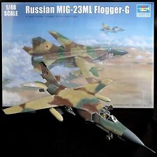 TRUMPETER 1/48 MIG 23ML FLOGGER 300+PARTS ... PE .... ENGRAVED PANEL JOINS