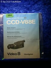 Sony Bedienungsanleitung CCD V88E Video8 Handycam  (#0364)