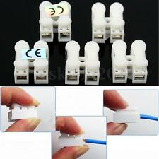 100Pcs Plastic 2 Pin Push Quick Cable Connector Wiring Terminal 10A 220V