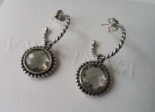 Pandora Inspired Bloom Green Amethyst Compose Earrings 290644GAM & Posts. New.