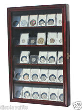Display Case Wall Cabinet to hold Collector NGC PCGS ICG Coin Slabs, CC01-MAH