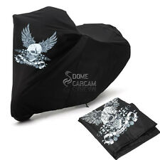 XXL Skull Wing Motorcycle Cover For Yamaha V-Star XVS 650 950 1100 1300 Custom
