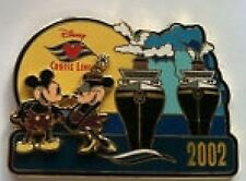 Disney Pin: Disney Cruise Line DCL 2002 Mickey & Minnie With Wonder & Magic Ship