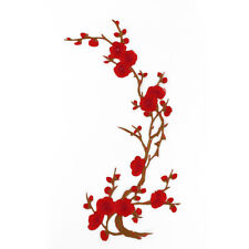 Embroidered Plum Flower Patch Wintersweet Beauty Iron on Clothes Applique Craft