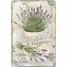 Lavende De Provence Shabby Chic Kitchen Bathroom Medium 3D Metal Embossed Sign