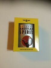 Natural American Spirit Cigarette Tin EMPTY Silver Oval with Hawaii tobacco tax