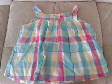 Girls 7-8 Years - Blue & Multi Checked Sleeveless Top - H&M