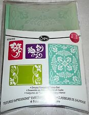 Sizzix Embossing Folders ORNATE FLOWERS & FRAME SET #656152