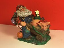 VINTAGE CHRISTMAS SANTA CLAUS FIGURINE AGRICLAUS PIG WHEELBARROW POSSIBLE DREAMS