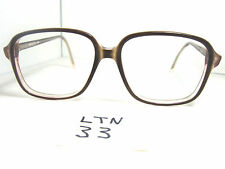 Nos 1980s Esquire 22 Squared Eyeglass Frame Dark Brown Crystal Fade (Ltn-33)