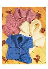 Baby Child's Aran Cardigans Hat Vintage Knitting Patterns PATTERNS ONLY ±sc43