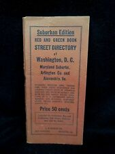 Vintage 1944 Street Directory Washington DC Maryland Virginia Suburban WWII