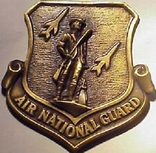 Air National Guard Bronze Medal Medallion paperweight Minuteman Made in U.S.A.