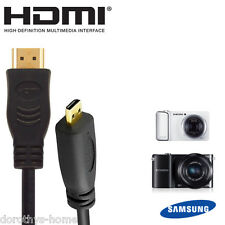 Samsung Galaxy 2, NX1000, NX2000 Camera HDMI Micro TV Monitor 5m Wire Lead Cable