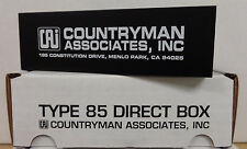 "Countryman DT85 Type 85 FET Instrument Direct Box - 1/4"" In - XLR Out - NIB"