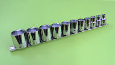 """WILLIAMS TOOLS 3/8"""" DR. 6-POINT SAE 11-PIECE SOCKET SET 1/4"""" to 7/8"""""""