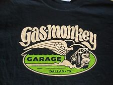 GAS MONKEY GARAGE Dallas Texas Hot Rod Smokin monkey black T Shirt Men's M