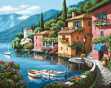 Dimensions Needlecrafts Paintworks Paint By Number, Lakeside Village , New, Free