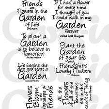 New Card-io Majestix Clear Stamps Garden Quotes