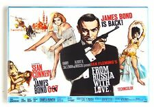 From Russia With Love FRIDGE MAGNET (2 x 3 inches) quad movie poster james bond