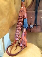 Leather Gunstock Cover ,Sling ,Forearm No Drill Rossi Ranchhand Henry Mares Leg