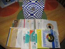 "1960s 45 RPM Carrying Case filled W/ ""50"" 45 RPM Records Original Sleeves Beauty"