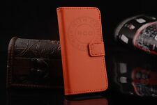Hot Genuine Leather Flip Case Card Slot Stand Wallet Magnetic For iPhone Samsung